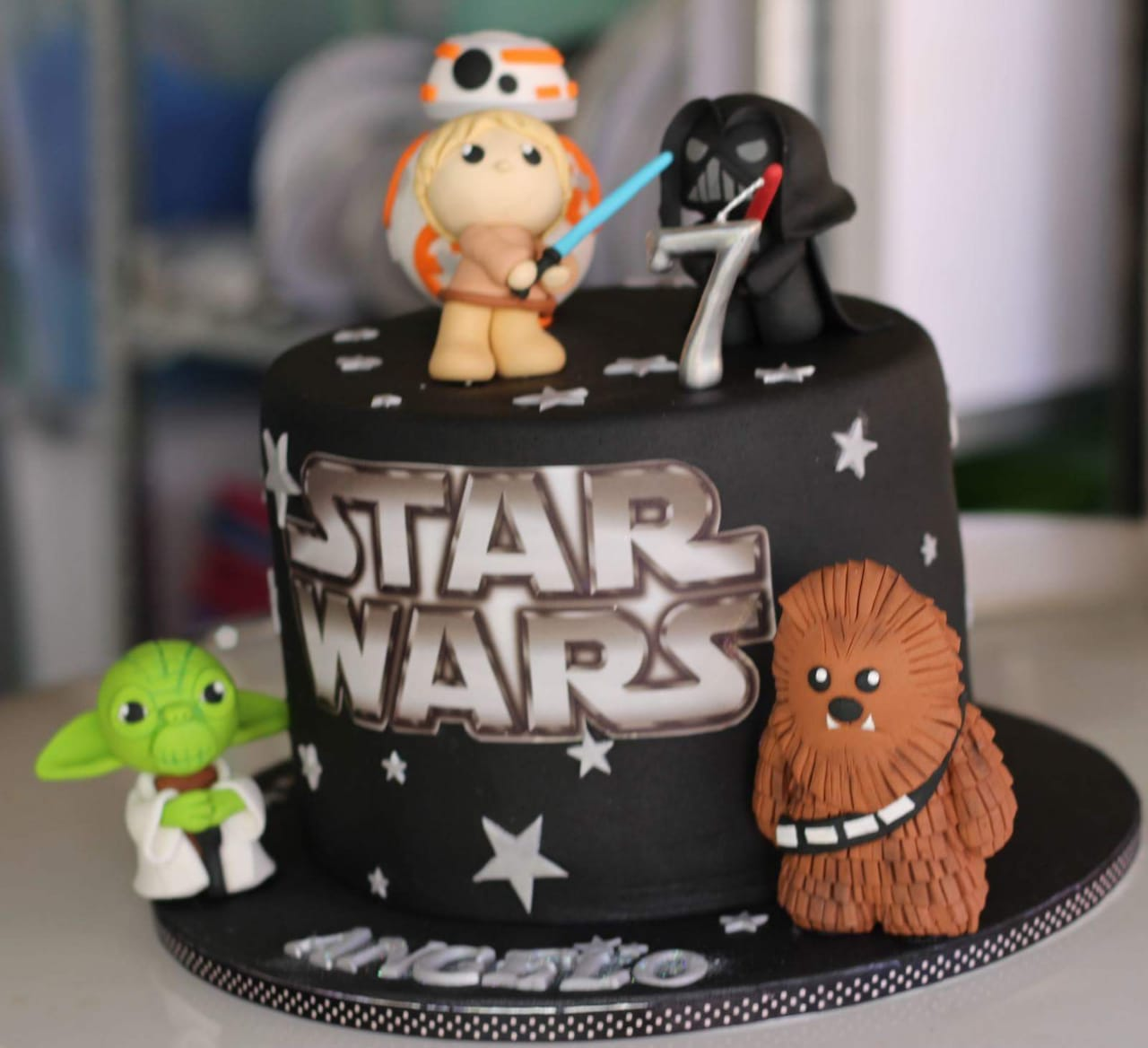star wars themed birthday cakes