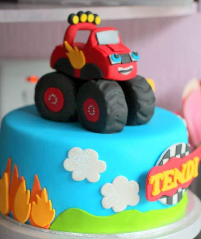 Baby shower cakes for boys can include a cake with a car theme. The parents of the new baby are normally very excited. This image was taken in Johannesburg South Africa