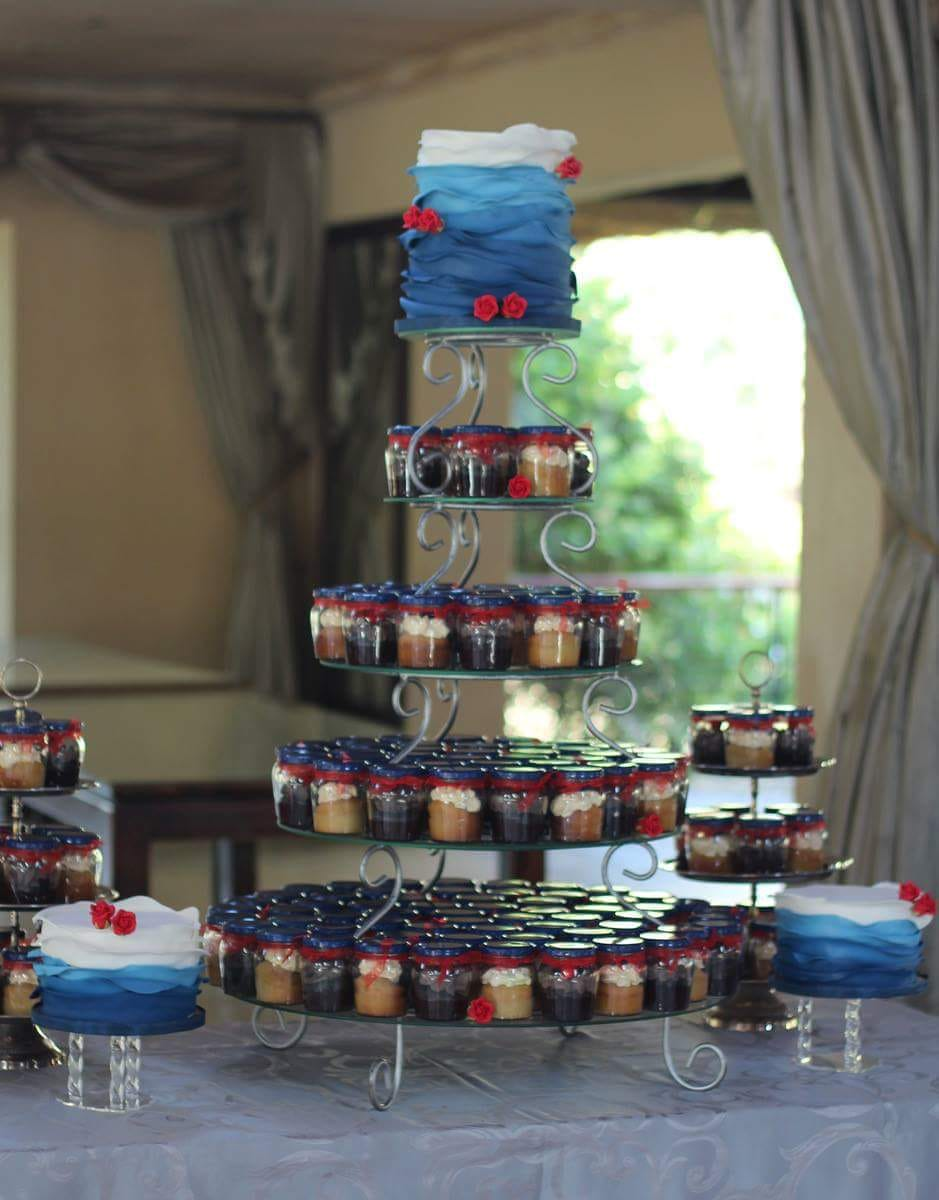 Baby showers can entertain a Cupcake tower that brings life to the room. Enjoy. This cupcake tower picture was taken in Johannesburg South Africa