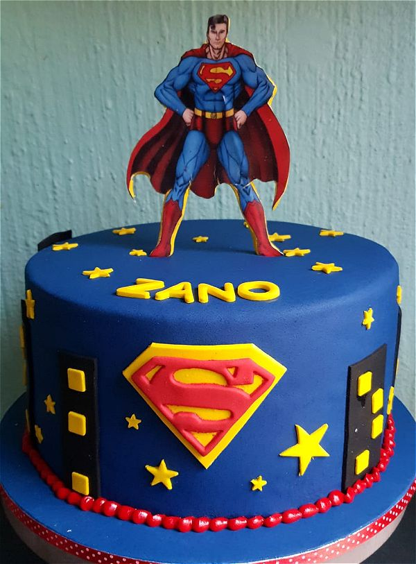 Super hero cakes are perfect for any boys birthday party. This image was taken in Johannesburg, South Africa.