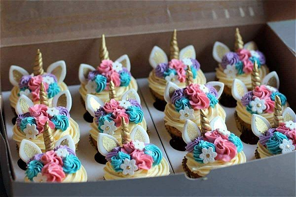 Unicorn cupcakes can light up any kids birthday party idea. This image was taken in Johannesburg, South Africa