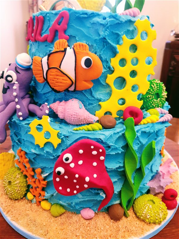 Ocean theme cakes for kids are always a winner